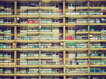 Retro look Trellick Tower, London Royalty Free Stock Photography