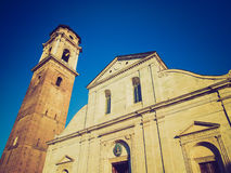Retro look Turin Cathedral Stock Photos