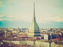Retro look Turin, Italy Stock Images