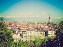 Retro look Turin view Royalty Free Stock Images