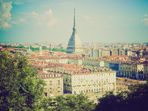 Retro look Turin view Stock Photography