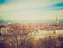 Retro look Turin view Stock Photos