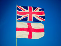 Retro look UK flag Stock Photo