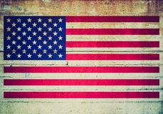 Retro look USA flag Stock Images
