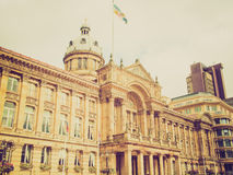 Retro look Victoria Square, Birmingham Royalty Free Stock Photos