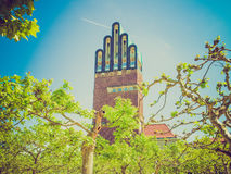 Retro look Wedding Tower in Darmstadt Stock Photo