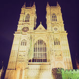 Retro look Westminster Abbey Royalty Free Stock Images