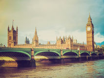 Retro look Westminster Bridge Stock Images