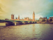 Retro look Westminster Bridge Royalty Free Stock Photos