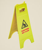 Retro look Wet Floor sign Stock Photos