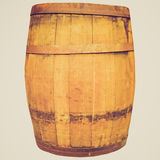 Retro look Wine or beer barrel cask Stock Photography