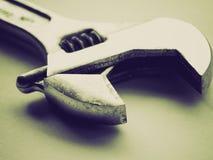 Retro look Wrench spanner Stock Photos