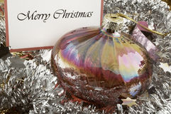 Retro looking Christmas bauble Royalty Free Stock Photo