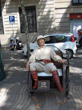 Retro looking dummy on streets Barcelona Stock Photos