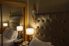 Retro looking hotel room in Paris, France stock photos