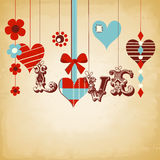 Retro love background Stock Image