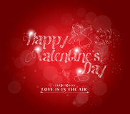 Retro love background for happy valentines day card Royalty Free Stock Photo