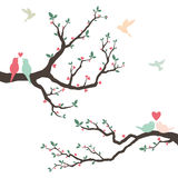 Retro Love Bird Wedding Invitation Royalty Free Stock Images