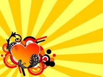 Retro love frame Stock Image