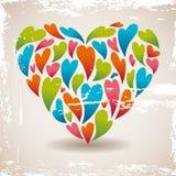 Retro love heart Stock Photos
