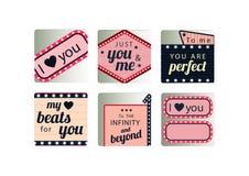 Retro love icons set Stock Photography