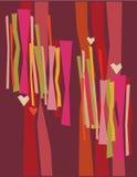 Retro love wall. Retro wallpaper pattern in authentic clashing colours Stock Photos