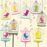 Retro Lovely Birdcage Royalty Free Stock Photography
