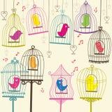 Retro Lovely Birdcage Royalty Free Stock Photography