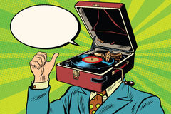 Free Retro Lover Music Man Gramophone Phonograph Royalty Free Stock Photo - 72480415