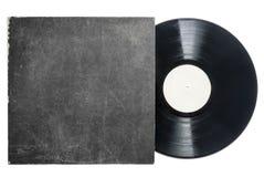 Retro LPvynilrekord med muffen royaltyfri bild