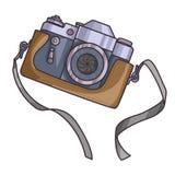 Retro lub rocznik kamery wektor ilustracji