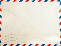 Retro- Luftpost-Pfostenumschlag stockbild