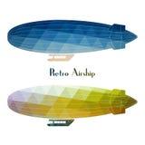 Retro- Luftschifflenkbarballonfahrt lizenzfreie abbildung