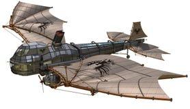 Retro luftskepp för fantasi royaltyfri illustrationer