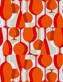 Retro lunch - seamless pattern Royalty Free Stock Photography