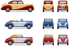 Retro luxury cars Royalty Free Stock Image