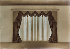 Retro luxury curtain Stock Image