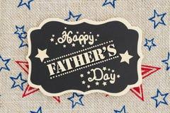 Retro lyckligt tecken för dag för fader` s Royaltyfri Bild