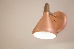 Retro lyxig ljus lampa för metall Fotografering för Bildbyråer