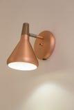 Retro lyxig ljus lampa för metall Royaltyfria Bilder