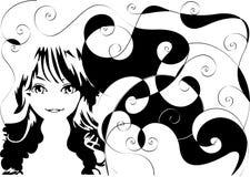 Retro- Mädchen Stockfoto