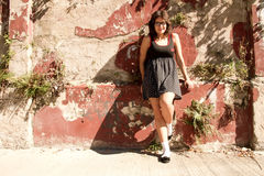 Retro- Mädchen Stockfotos