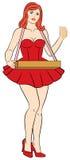 Retro- Mädchen der Zigaretten-Pin-Oben Lizenzfreies Stockfoto