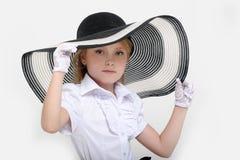 Retro- Mädchen Pin-oben Stockfotografie