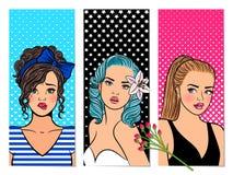 Retro- Mädchenfahnen