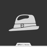 Retro mężczyzna kapeluszowa ikona dla sieci i wiszącej ozdoby Fotografia Royalty Free