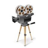 Retro macchina fotografica del cinematografo Immagini Stock Libere da Diritti