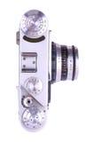 Retro macchina fotografica del metallo Fotografie Stock Libere da Diritti