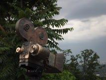 Retro macchina fotografica del metallo Oggetto di arte immagini stock