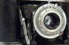 Retro macchina fotografica del telemetro Fotografia Stock